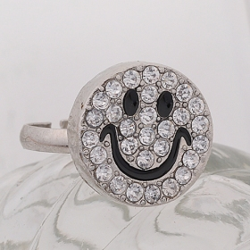 Lovely Smile Face Bling Fashion Band Ring