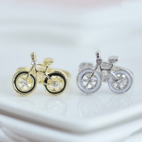 Lovely Cartoon Bicycle Unique Fashion Ring