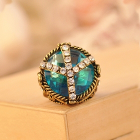 Vintage Jewelry Large Aquamarine Cocktail Ring