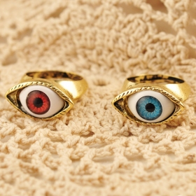 Vintage Punk Personalized Eye Opal Band Ring