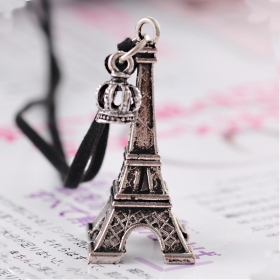 Vintage Fashion Eiffel Tower Shape Sweater Pendant Necklace