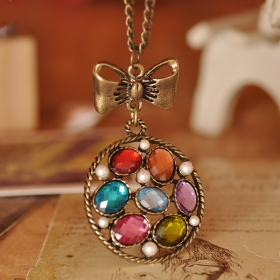 National Old Fashioned Butterfly Pendant Necklace