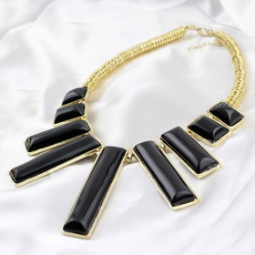 Vintage White Rectangle Shape Pendant Necklaces