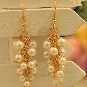 Personalized Bohemian Feel Pearl Long Drop Earrings