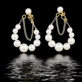 Elegant Bunch Pearl Drop Earrings for Women