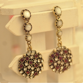Vintage Jewelry Bling Crystal Style Drop Dangel Earrings