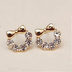 Chic Rhinestone Cute Stud Earrings For S