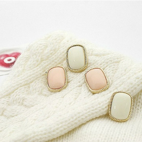 Simple Fashion Pink/white Ladies' Elegant Stud Earrings