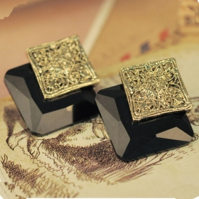 Vintage Solid Flower Cool Stud Earrings for Girls
