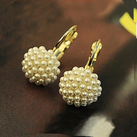 Fashion Jewelry Lovely Stud Earrings with Pearl Ball