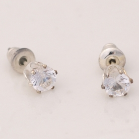 Korea Style Fashion Transparent Rhinestone Stud Earring
