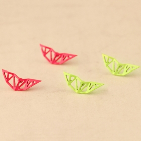 Candy Color Fashion Hollow-out Geometrical Stud Earrings