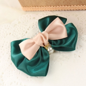 Double Layers Korean Fashion Silk Butterfly Knot Hair Clips