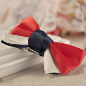 Red Fashion Three Layers Butterfly Knot Hair Clips