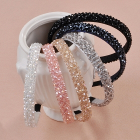 Handmade Fishing Line Crystal Wide Headbands