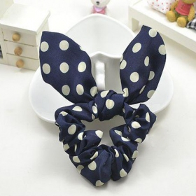 Lovely Rabbit Ear Style Butterfly Knot Silk Ponytail Holders