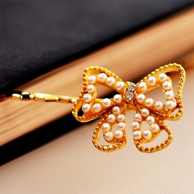 Fashion Rhinestone Butterfly Knot Hair Clips