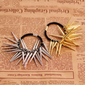 European Punk Style Bronze Rivet Ponytail Holder
