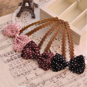 Lovely Chiffon Bowknot Dot Hair Barrette
