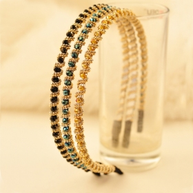 Exquisite Elegant Beaded Winding Diamond Headband