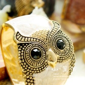 Vintage Fashion Personlized Owl Bangle Bracelet