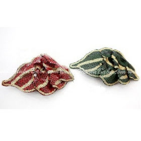 Fashion Paillette Leaf Style Hair Clips