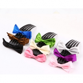 Elegant Silk Butterfly Knot Hair Combs