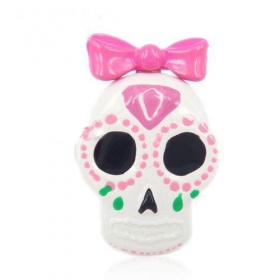 Fun Fashion Lovely Skull With Bowknot Cocktail Ring