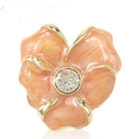 Elegant Chic Rhinestone Flower Rings Jewelry