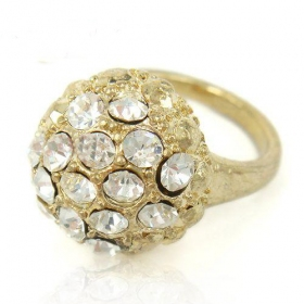 Fashion Pave Rhinestone Bling Cocktail Ring