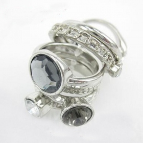 Elegant Rhinestone Fashion Band Ring Set