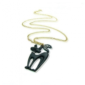 Black Fox Lovely Animal Pendant Necklace