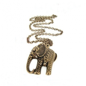 Antique Elephant Shape Pendant Chain Necklace