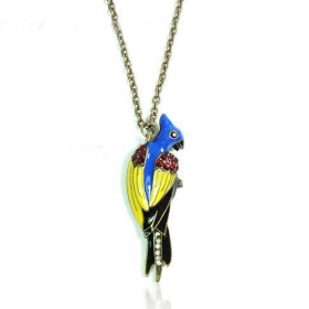 Lovely Colorful Bird Chain Necklace