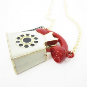 Chic Lovely Telephone Shape Pendant Chain Necklace