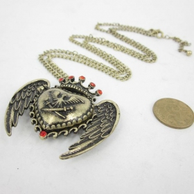 Vintage Heart Locket Necklace For Ladies