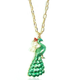 Fashion Golden Peacock Chain Necklace For Ladies