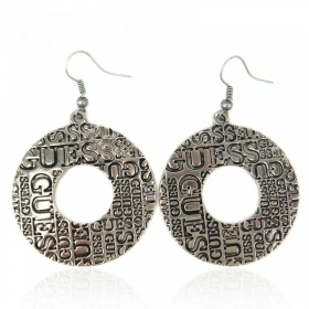 Vintage Circle Shape Drop Earrings For Ladies