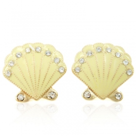 Vintage Simple Stud Earrings With Rhinestone