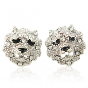 Fashion Tiger Head Shape Stud Earrings