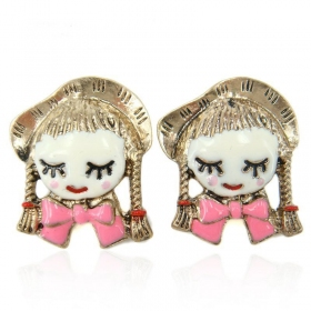 Fashion Little Girl Stud Earrings