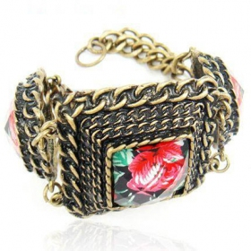Vintage Flower Link Braclets for Ladies