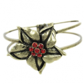 Vintage Ladies' Unique Flower Bangle Bracelets