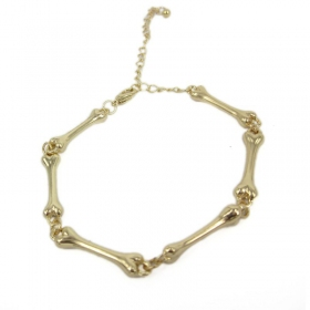 Fashion Bone Shape Golden Bracelets For Ladies