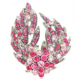 Multi-color Wings Rhinestone Brooch for Ladies