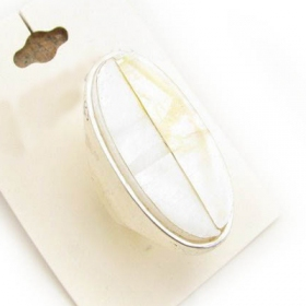 Elegant White Shell Ring