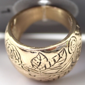 Old Fashioned Wide Band Ring