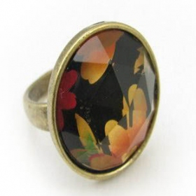 Abstract Design Cocktail Ring