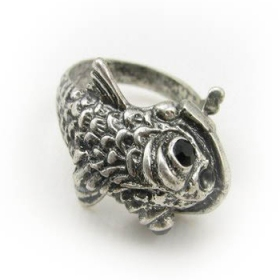 Vintage Fish 2 Color Band Ring