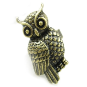 Vintage Owl Adjustable Animal Ring